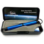 Fisher Backpacker Pen, Colored Aluminum wKey Chain, Blue