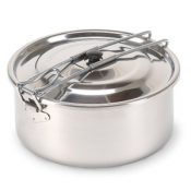 Stansport Solo II Stainless Steel Cook Pot 1 Liter
