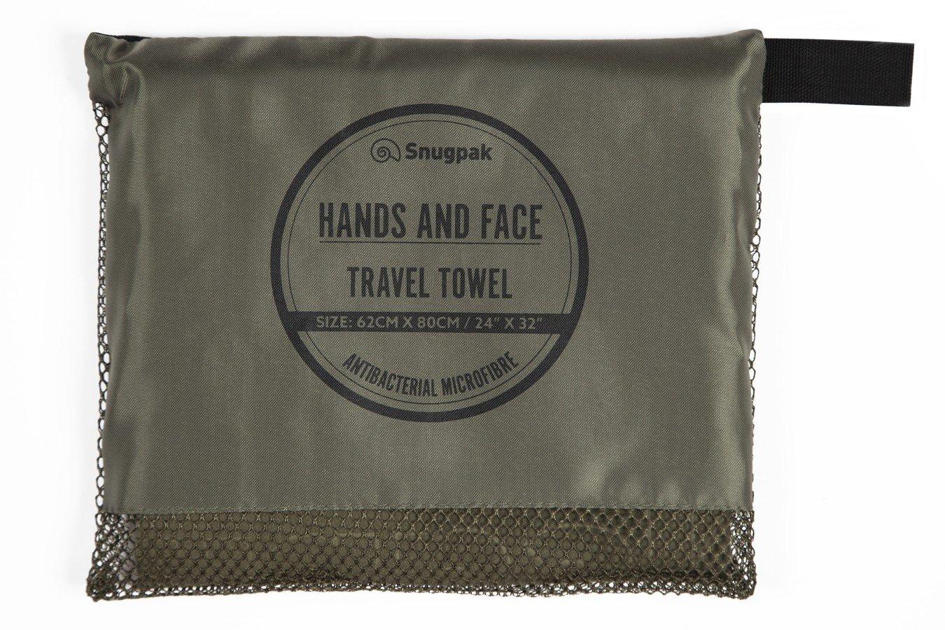 Snugpak Travel Towel Hands and Face Olive